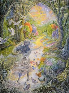 "Encouragement Card ""Calling"" Encouragement Greetings Card by Josephine Wall"